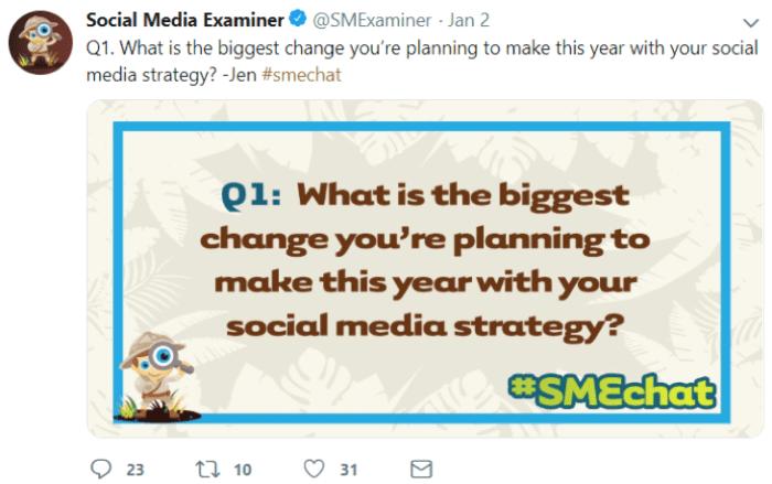 Social Media Examiner tweet