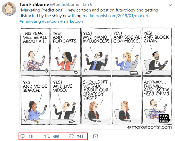 Tom Fishburne tweet