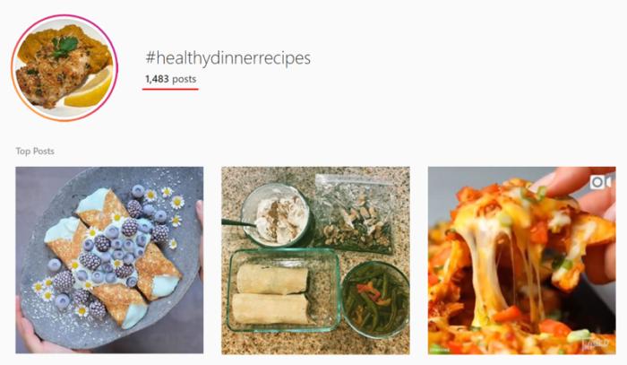 Risultati di ricerca dell'hashtag di Instagram
