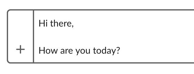 Usando un soft entra in un messaggio Slack