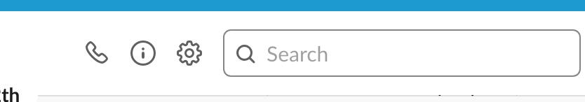 Simbolo del telefono chiamata video Slack