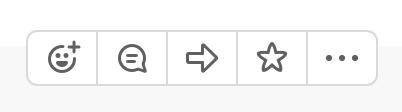 Opzioni di messaggio in Slack