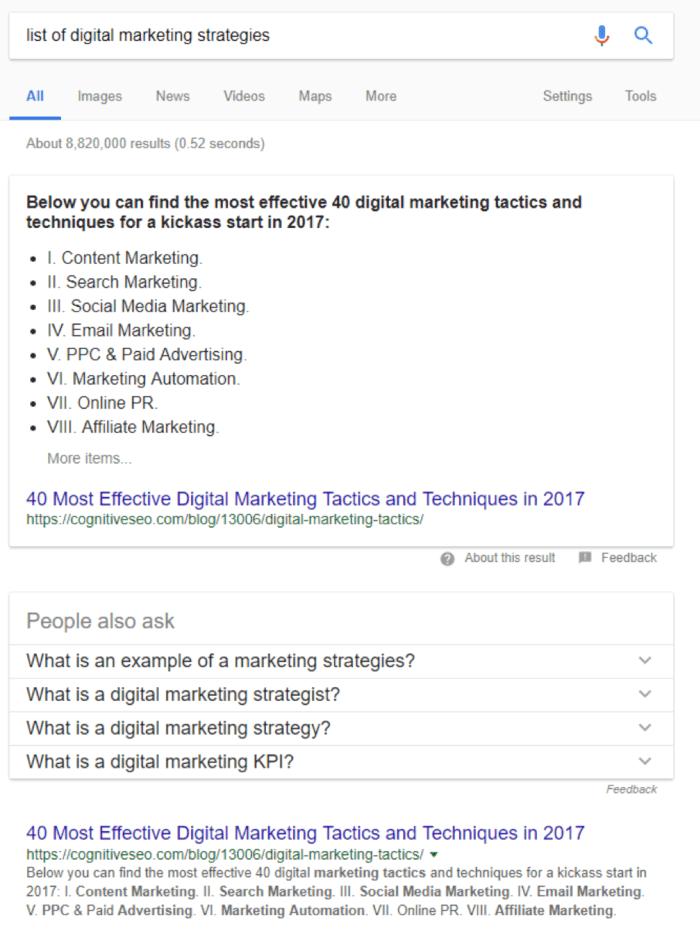 elenco delle strategie di marketing digitale