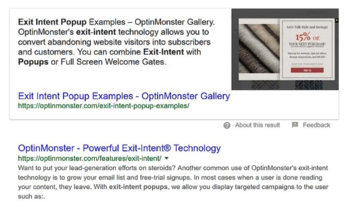 Esci dagli esempi di pop-up