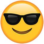 occhiali da sole cool emoji