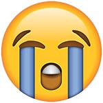 emoji singhiozzanti