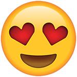 occhi di cuore emoji