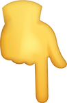 punto giù emoji