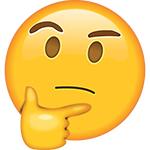 emoji pensante