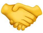 emoji della stretta di mano