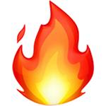 emoji di fuoco