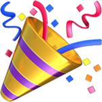 emoji del popper del partito