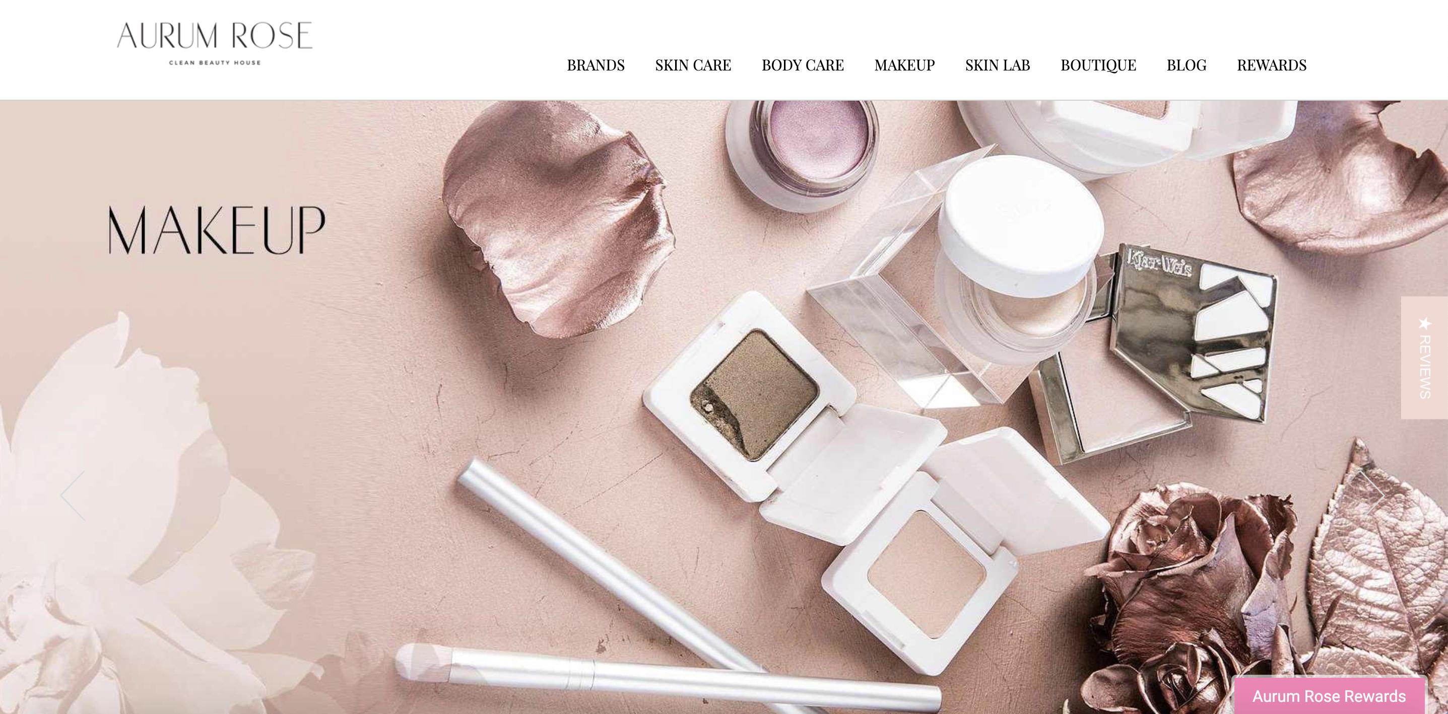 Aurum Rose Clean Beauty Store esempio