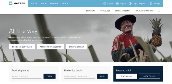 b2b-marketing-digital-marketing-Maersk-homepage