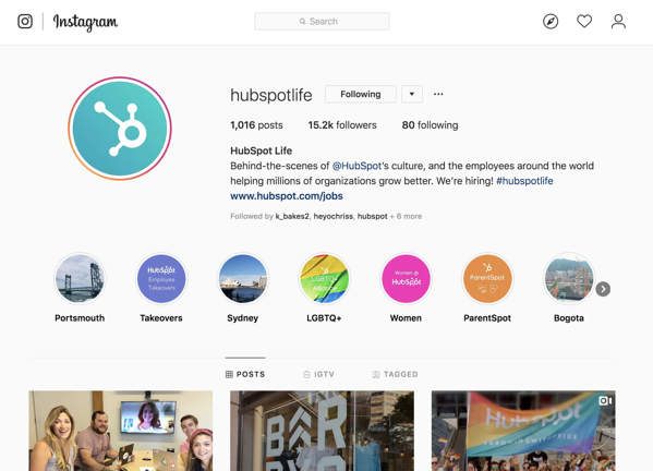b2b-marketing-social-media-dipendente-impegno-HubSpot-life-instagram