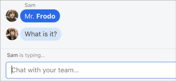 Esempio di Chatbot