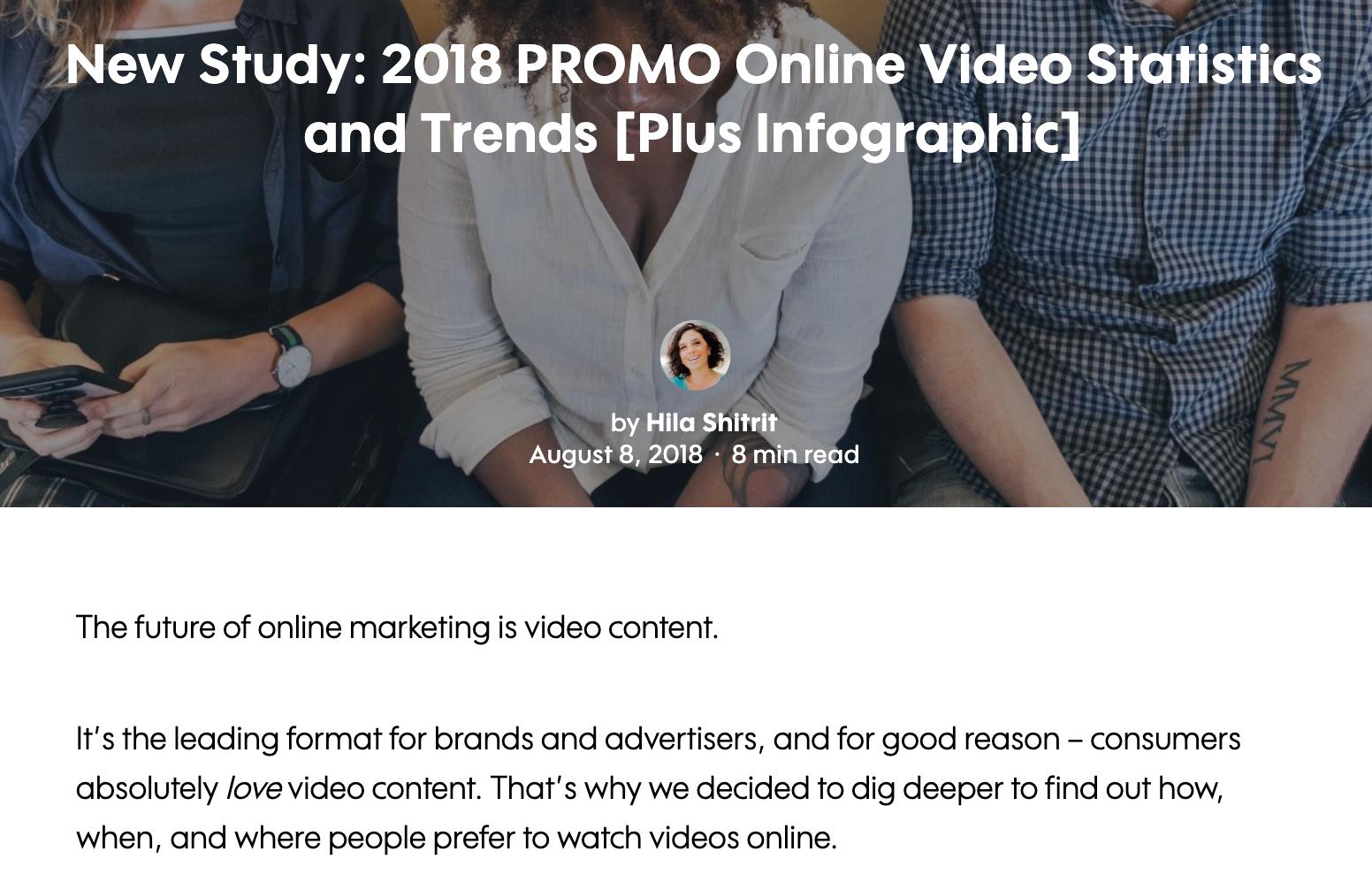 ricerca originale altamente collegata sulle abitudini di visualizzazione dei video.