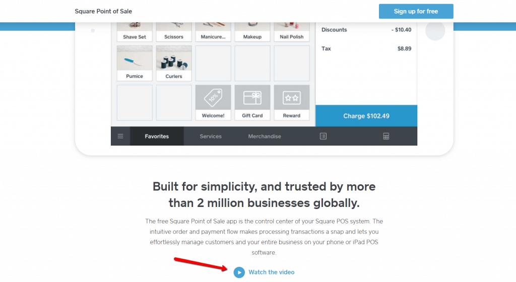 esempio di video facoltativo da visualizzare su una pagina prodotto.