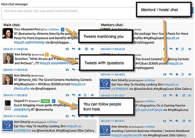 twchat-strumento-tweets cruscotto mostra-