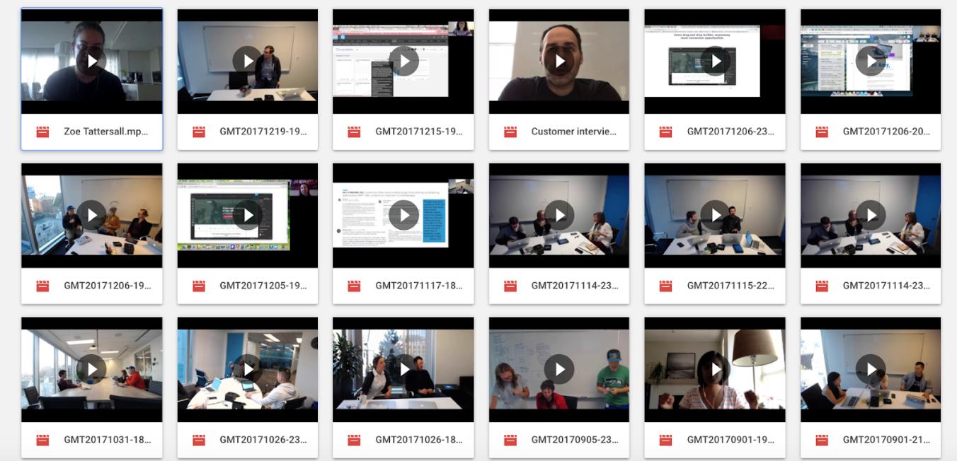 screenshot di test utente per prototipi.