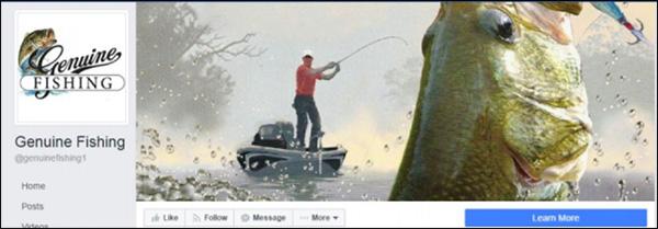 Immagine di copertina della pagina Facebook di pesca
