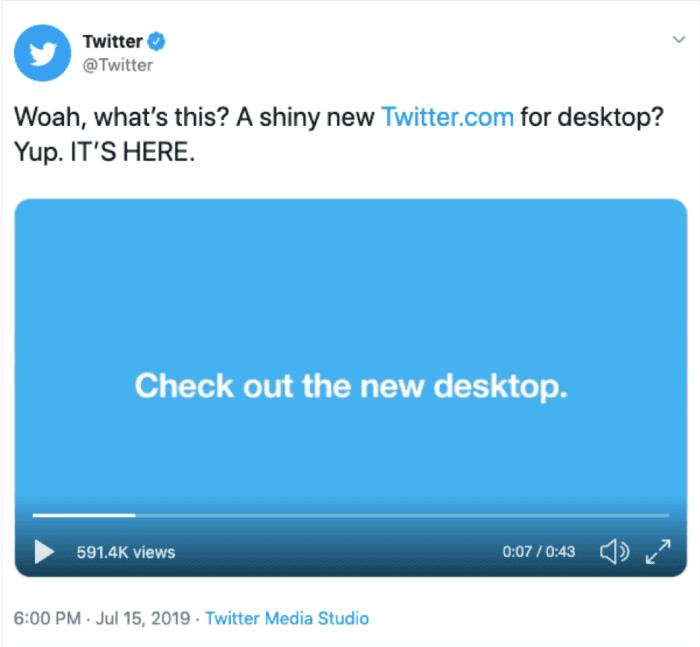 Annuncio di Twitter Tweet