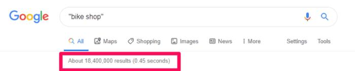 Risultati di ricerca di Google