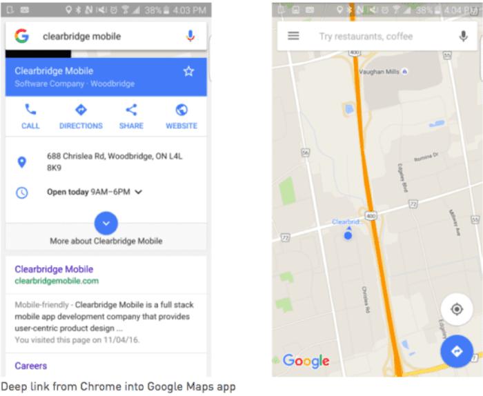 Link diretto da Chrome a Google Maps