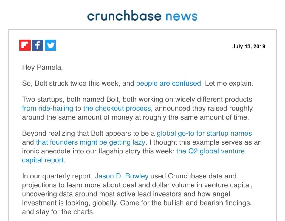 "Email di Crunchbase News con oggetto ""China Falls, Sleepy Unicorns, e le offerte non sono più grandi in Texas"" ""width ="" 956 ""style ="" width: 956px; ""srcset ="" https://blog.hubspot.com /hs-fs/hubfs/Crunchbase%20News%20email.jpg?width=478&name=Crunchbase%20News%20email.jpg 478w, https://blog.hubspot.com/hs-fs/hubfs/Crunchbase%20News%20email. jpg? width = 956 & name = Crunchbase% 20News% 20email.jpg 956w, https://blog.hubspot.com/hs-fs/hubfs/Crunchbase%20News%20email.jpg?width=1434&name=Crunchbase%20News%20email.jpg 1434w, https://blog.hubspot.com/hs-fs/hubfs/Crunchbase%20News%20email.jpg?width=1912&name=Crunchbase%20News%20email.jpg 1912w, https://blog.hubspot.com/hs -fs / hubfs / Crunchbase% 20News% 20email.jpg? width = 2390 & name = Crunchbase% 20News% 20email.jpg 2390w, https://blog.hubspot.com/hs-fs/hubfs/Crunchbase%20News%20email.jpg? width = 2868 & name = Crunchbase% 20News% 20email.jpg 2868w ""sizes ="" (larghezza massima: 956 px) 100vw, 956 px"