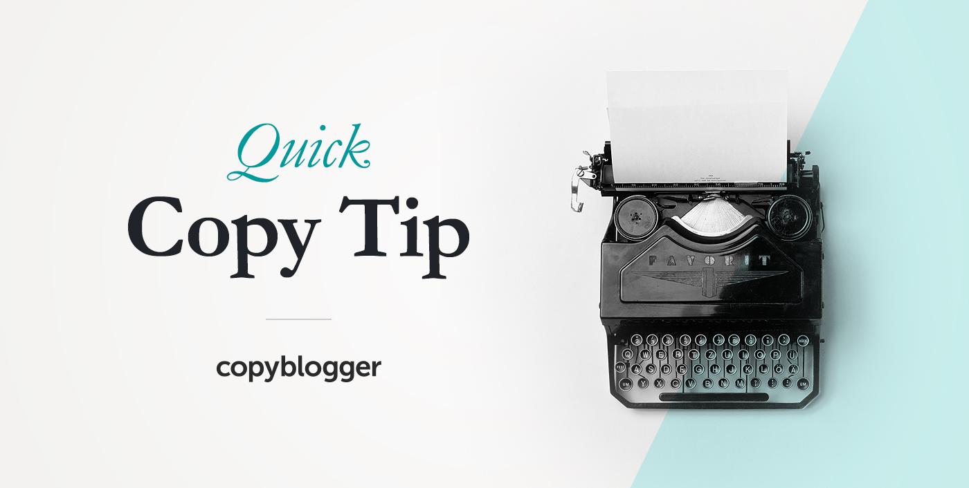 Suggerimento per la copia rapida di Copyblogger