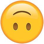 emoji a testa in giù