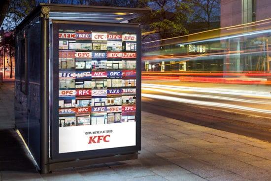 KFC imitazione marchi stampa annuncio