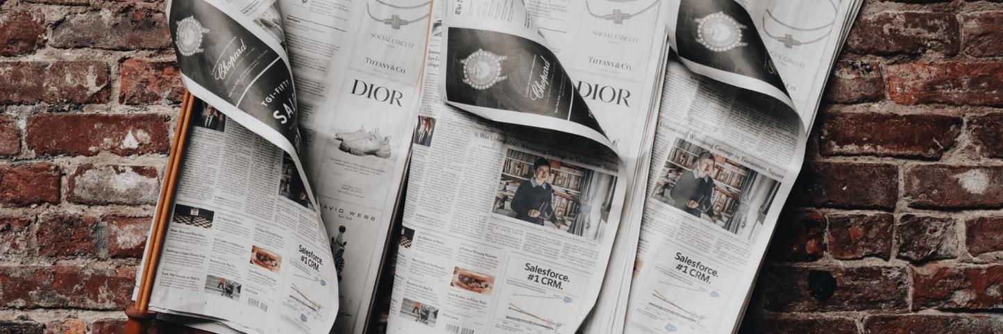 copia di vendita sul giornale
