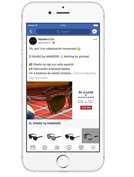 "Annuncio Facebook stile raccolta Hawkers ""style ="" display: block; margine sinistro: auto; margine destro: auto;"