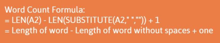 Formula di conteggio parole