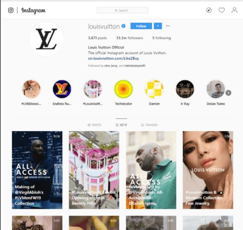 Louis Vuitton Instagram