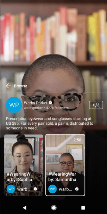 Warby Parker IGTV