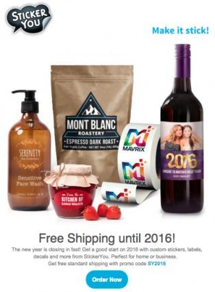 esempio di email di e-commerce promozionale che offre uno sconto.