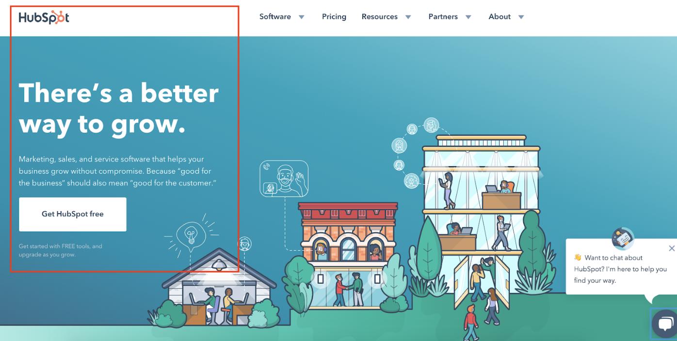 sul design della pagina di destinazione del marchio