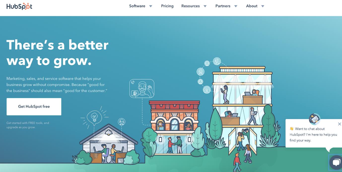 design semplice della pagina di destinazione