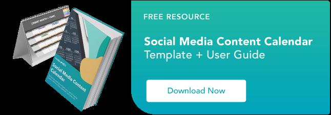 calendario gratuito dei contenuti dei social media