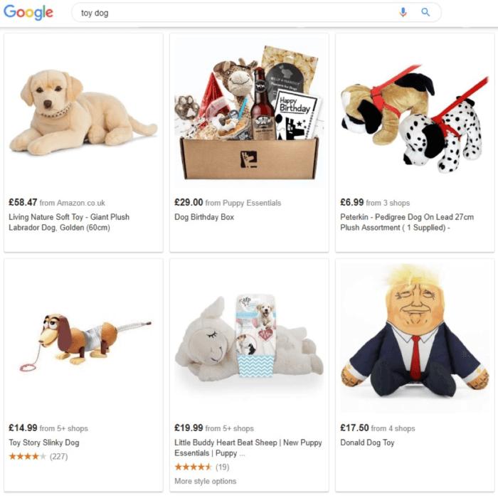Risultati della ricerca di cani giocattolo