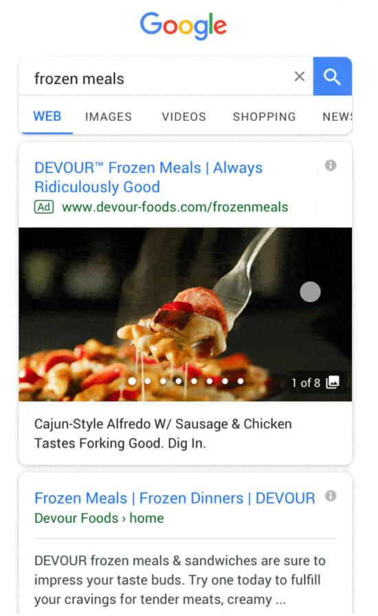 Annunci della Galleria di Google