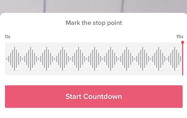Impostazione di un timer di registrazione video su TikTok