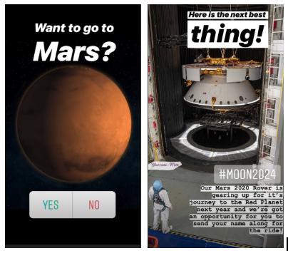Storia della NASA Instagram