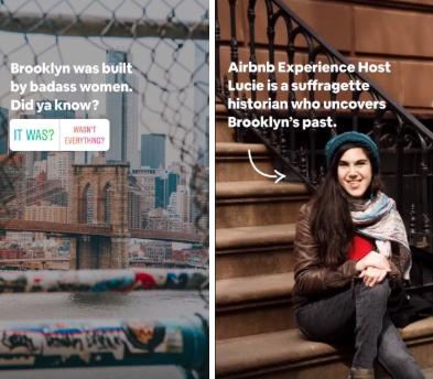 Airbnb evidenzia i clienti nelle sue storie su Instagram