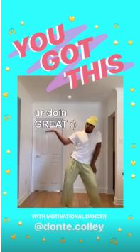 Instagram Story di Instagram con contenuti curati dagli utenti