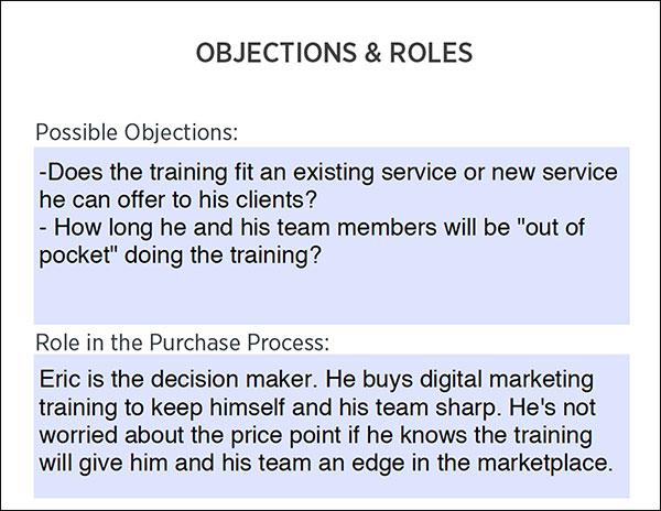 Avatar cliente: obiezioni e ruolo nel processo di acquisto