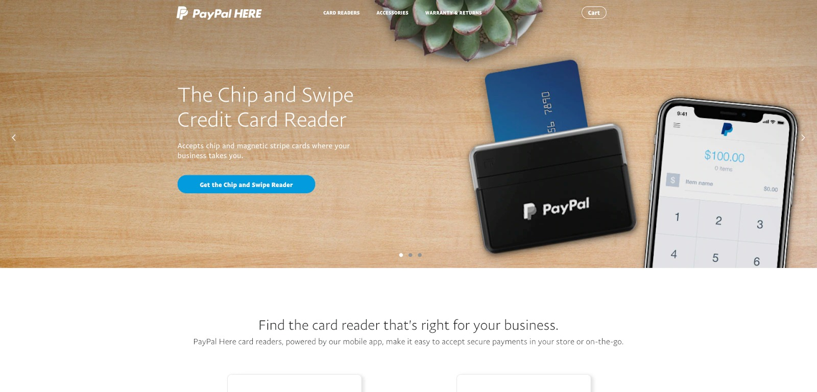 PayPal Qui homepage