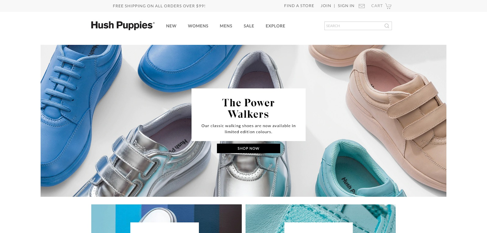 Homepage di HushPuppies